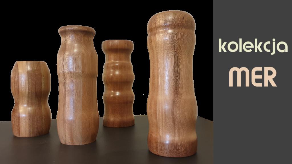 Kolekcja mer wazony drewniane
