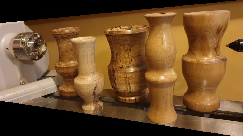 Wazony drewniane tokarka Drechselmeister