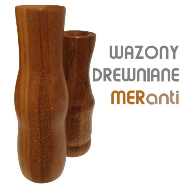 Drewniany wazon flakon k-mer-m10 (wysoki) 3