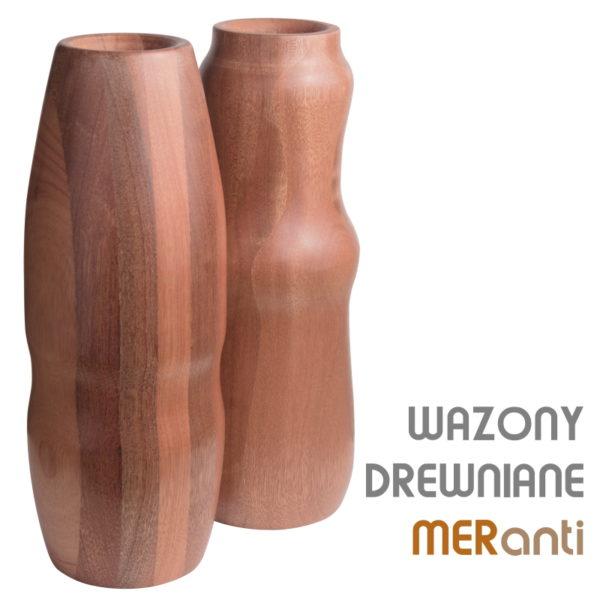 Drewniany wazon styl klasyczny