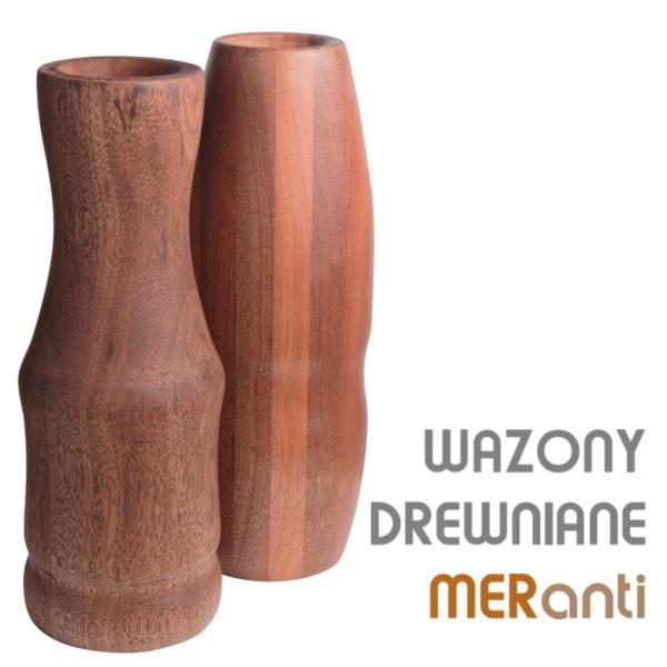 Drewniany wazon flakon k-mer-m9 2