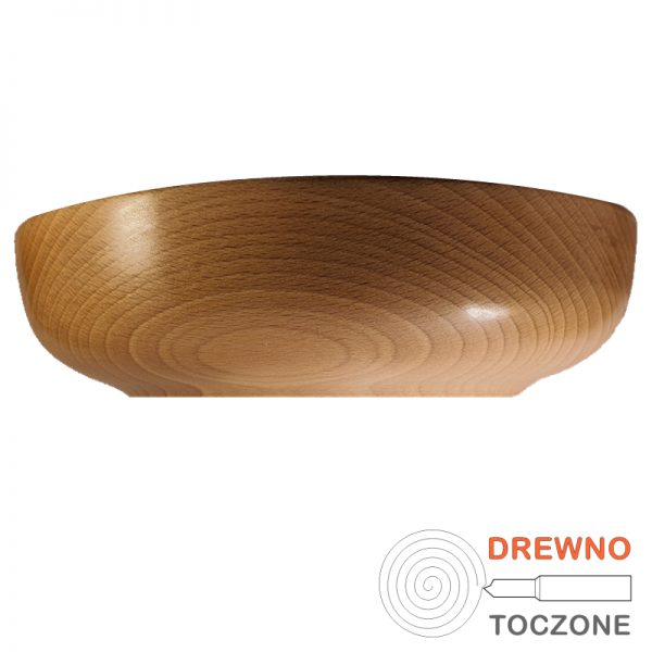 Drewniana miska Smart 24 cm, widok z boku