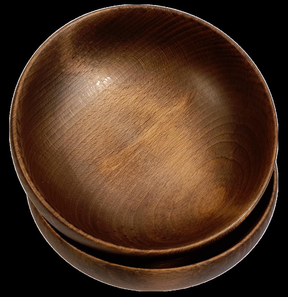 Miski drewniane z buka ciemne