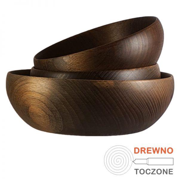 Trzy miski drewniane pik