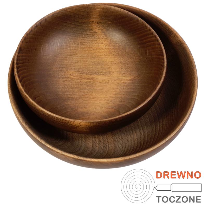 Zestaw dwóch misek drewnianych PIK