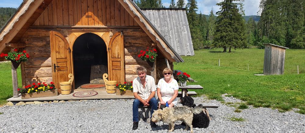 Bohusz, żona teresa i psy