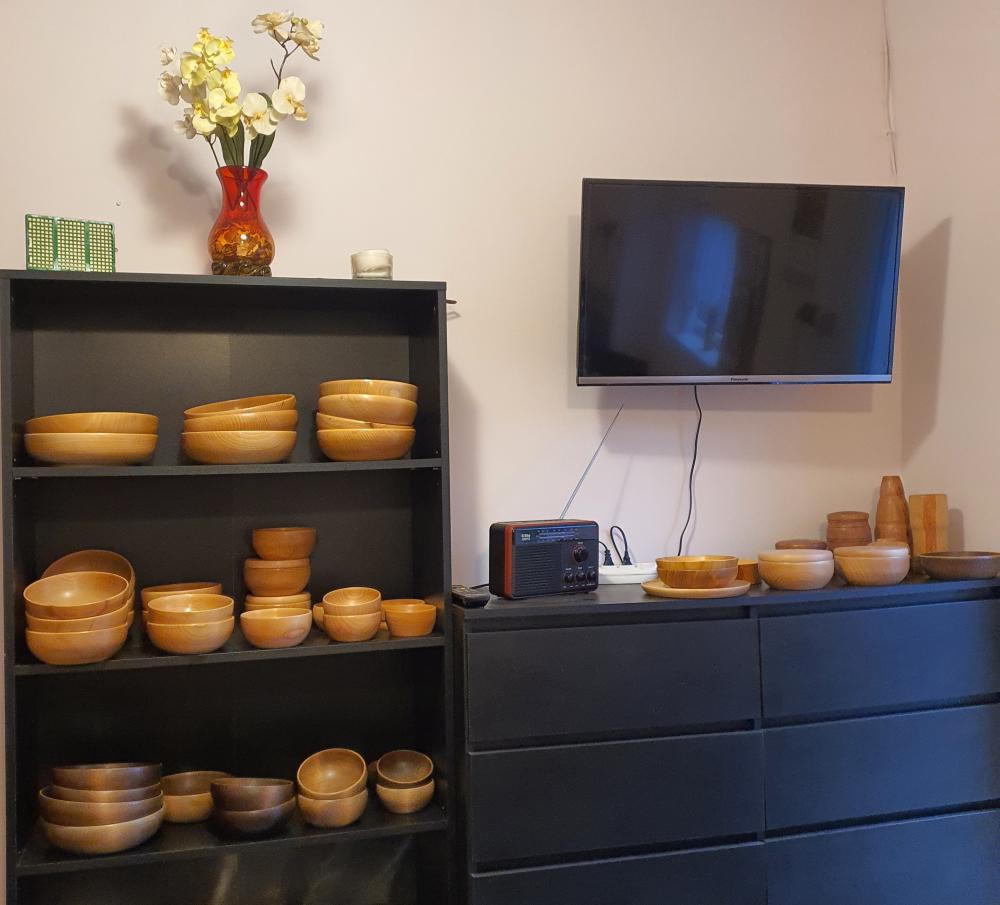 Ekspozycja wyrobów drewnianych w krzeszowicach