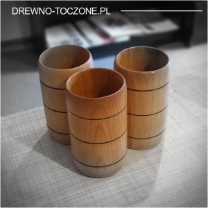 Kubki, kubeczki drewniane Bohusz