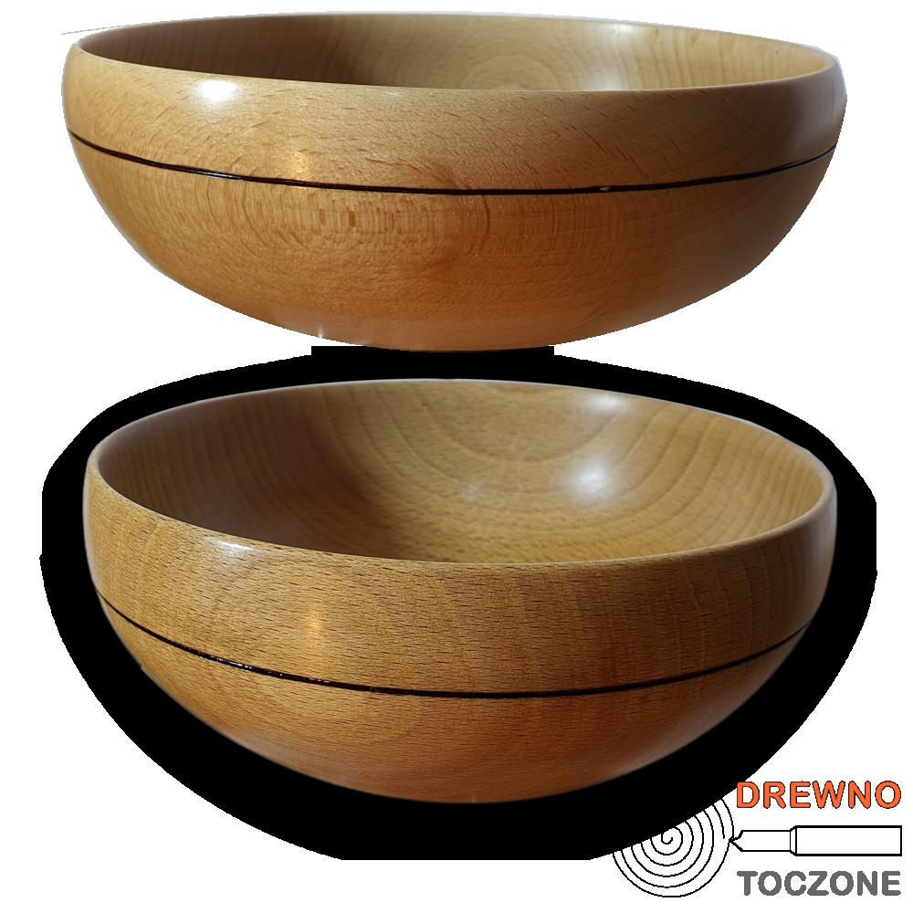 Miski drewniane z rowkiem