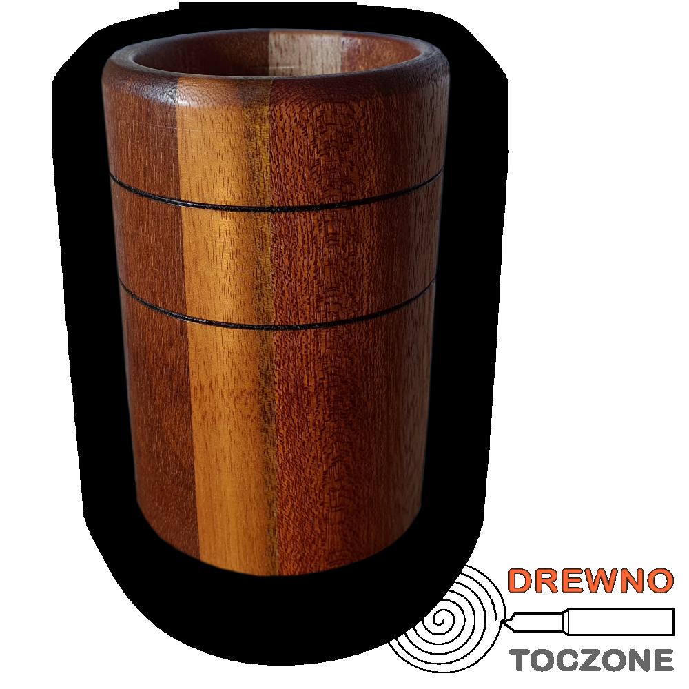 Kubek drewniany meranti