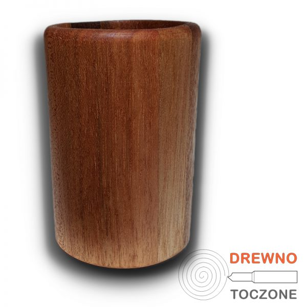 Duży kubek z drewna meranti 3