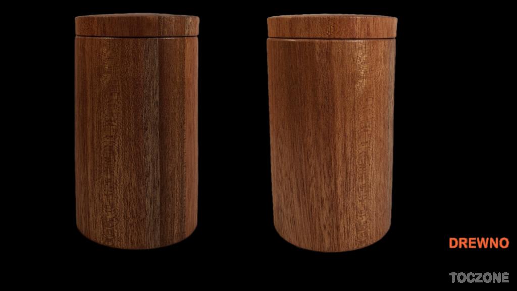 Kubki drewniane z przykrywką