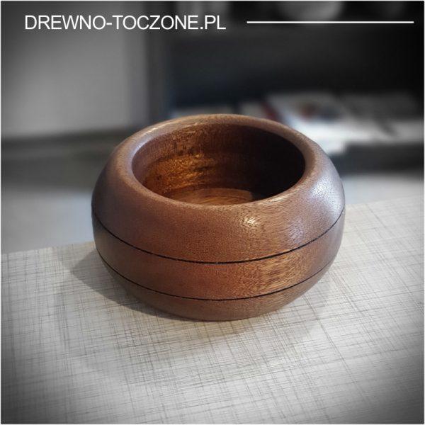 Pojemnik miska owal z drewna meranti