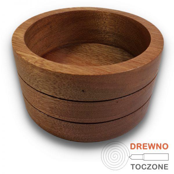 Pojemnik - miska drewno meranti 2