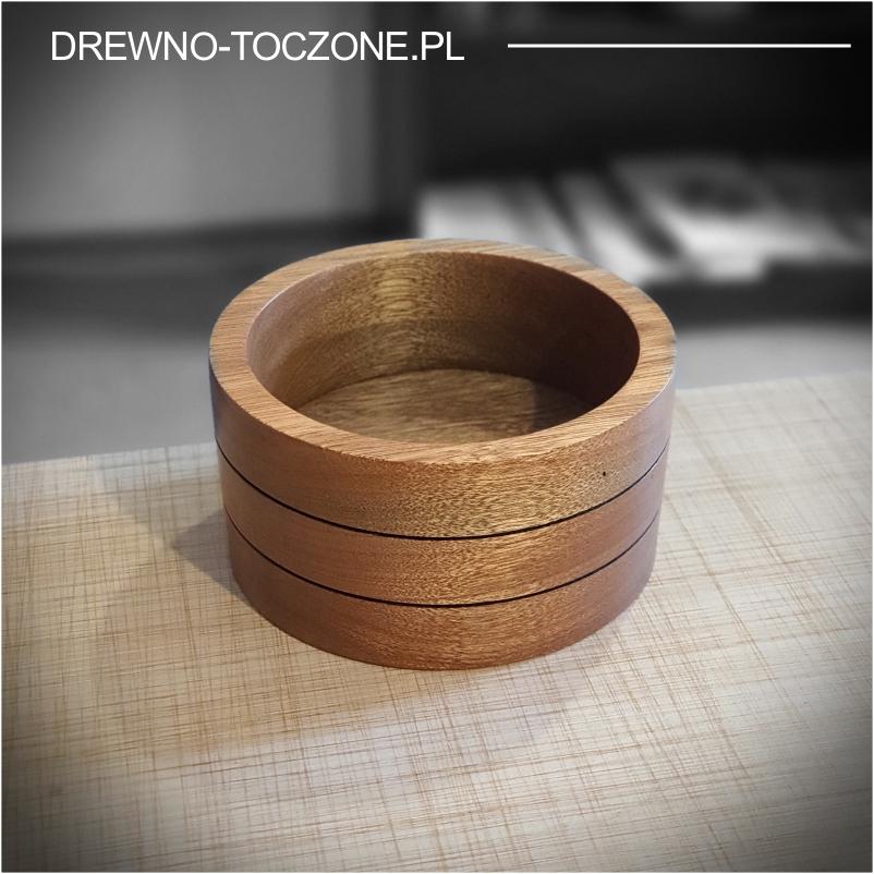 Pojemnik miska z drewna meranti