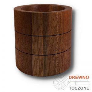 Pojemnik wazon drewniany