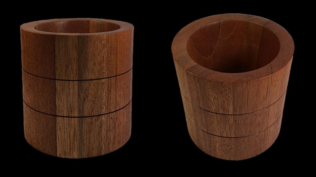 Pojemnik wazon drewniany meranti