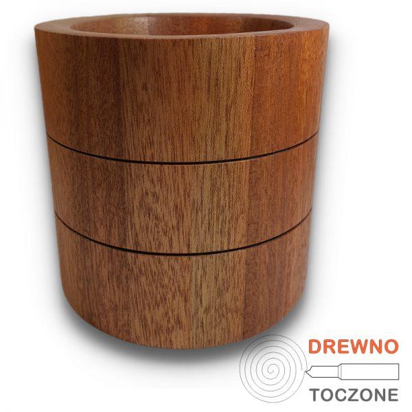 Wazon pojemnik drewniany 3