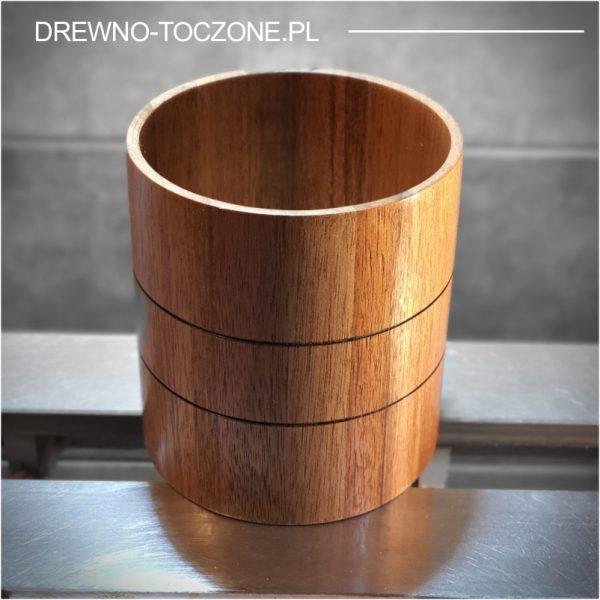 Wazon pojemnik drewniany cylinder - duży