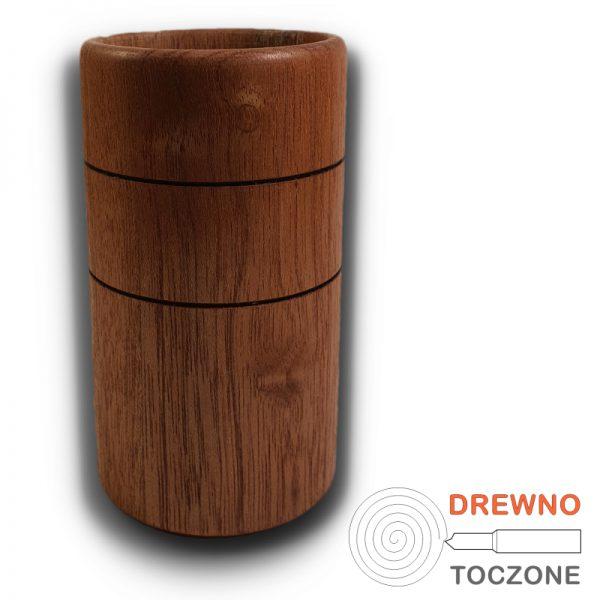 Wysoki kubek - wazonik drewno meranti 3
