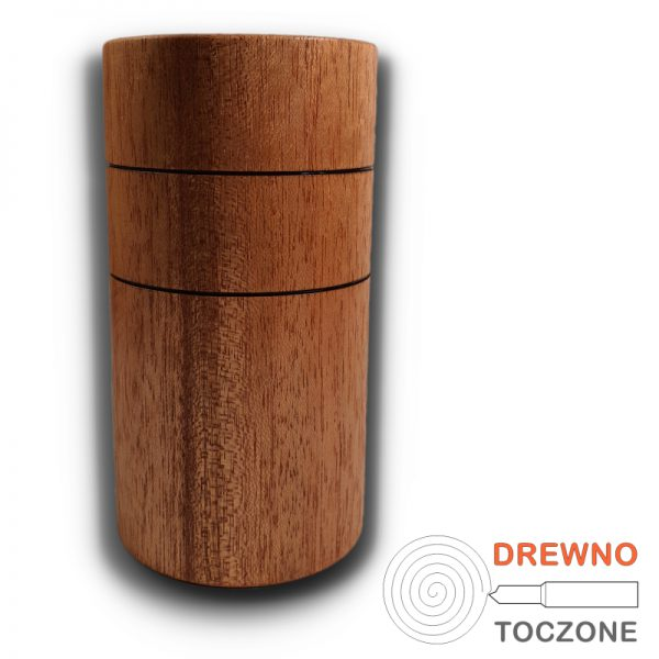 Wysoki kubek - wazonik drewno meranti 1
