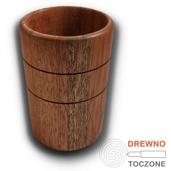 Wysoki kubek - wazonik drewno meranti 2
