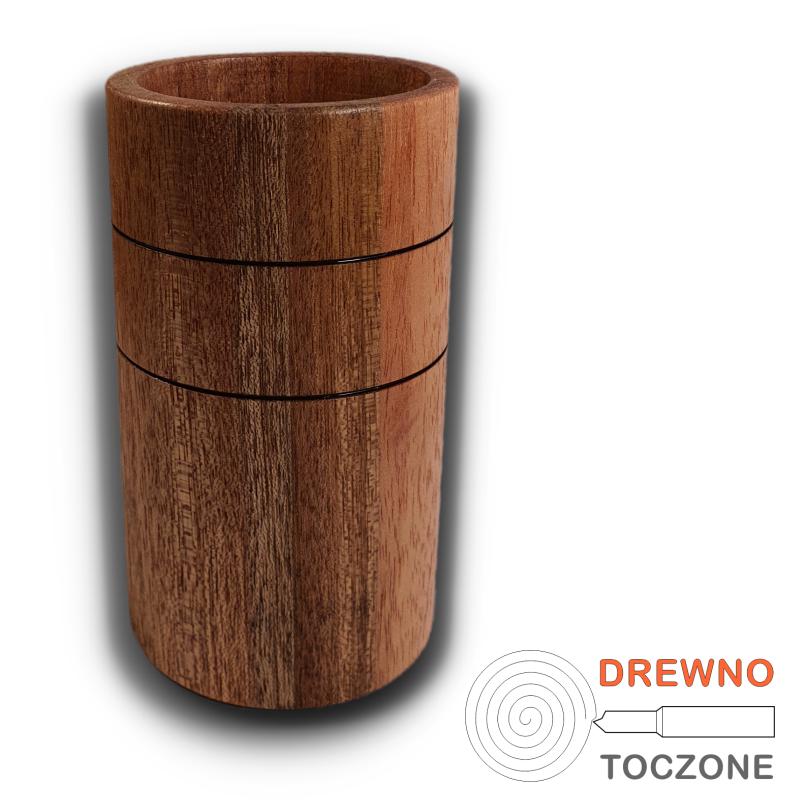 Wysoki kubek wazonik drewno meranti