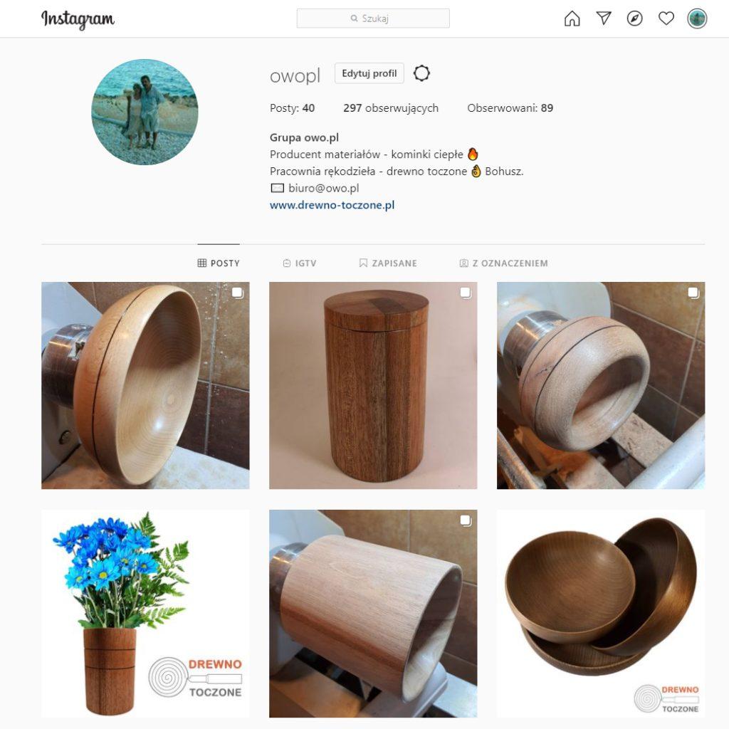 Instagram, profil kanał owopl