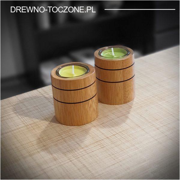 Świeczniki drewniane cylinder w-2 1