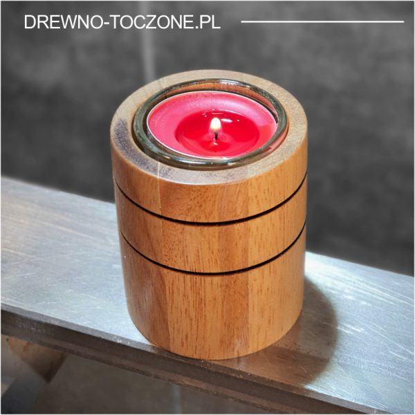Świeczniki drewniane cylinder w-2 2