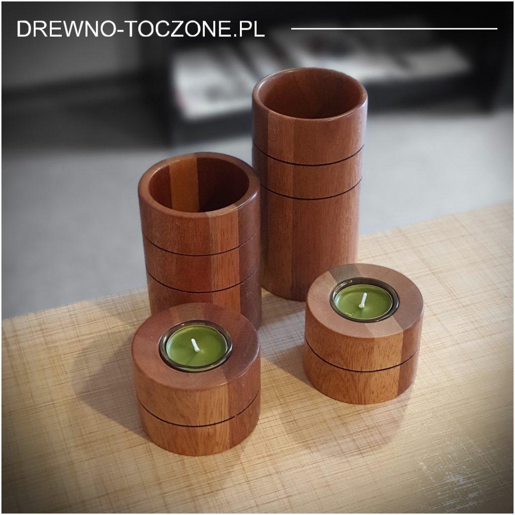 Eleganckie świeczniki drewniane w-4 5