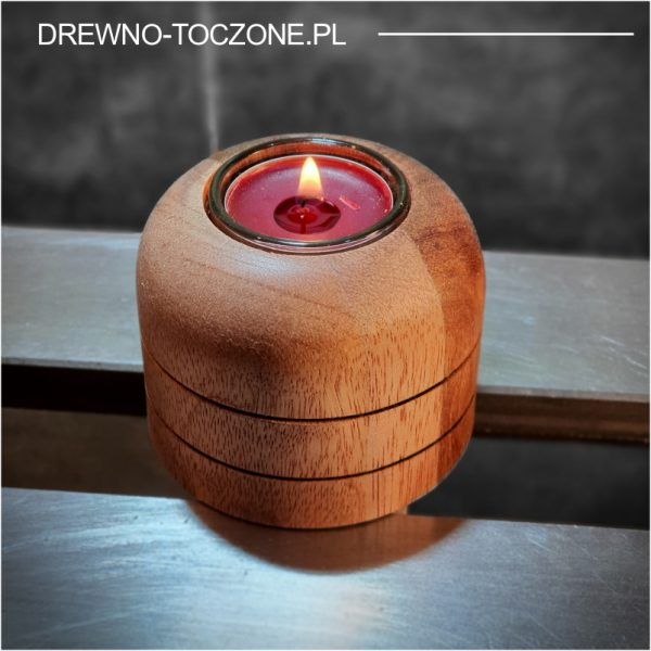 Świeczniki drewniane meranti w-1 1