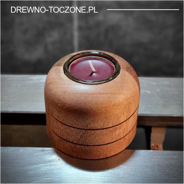 Świeczniki drewniane meranti w-1 2