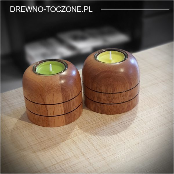 Świeczniki drewniane meranti w-1 3