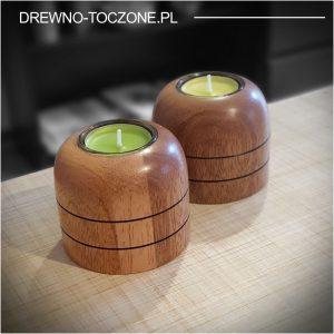 Świeczniki drewniane meranti W-1