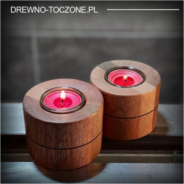 Eleganckie świeczniki drewniane w-4 3