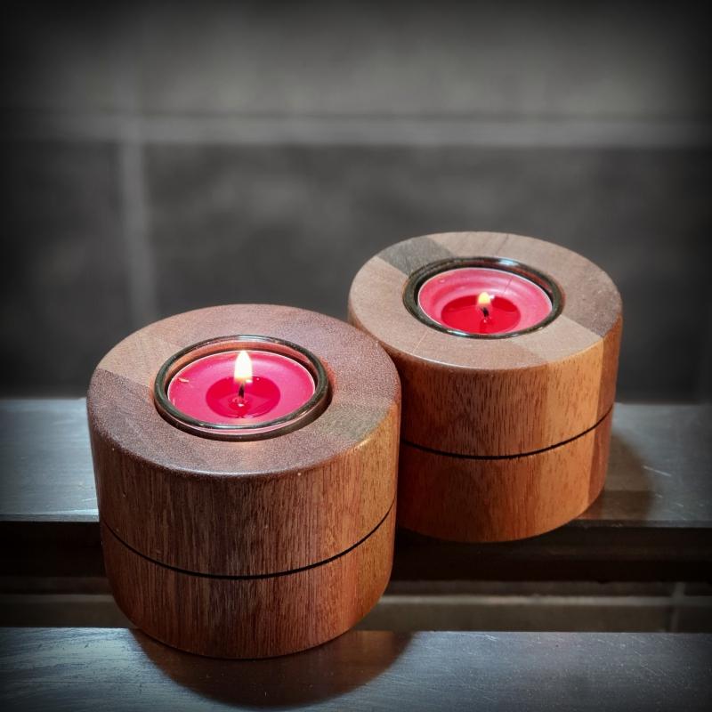 Eleganckie świeczniki drewniane w-4 4