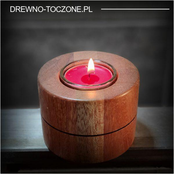 Eleganckie świeczniki drewniane w-4 1