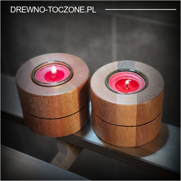 Eleganckie świeczniki drewniane w-4 2