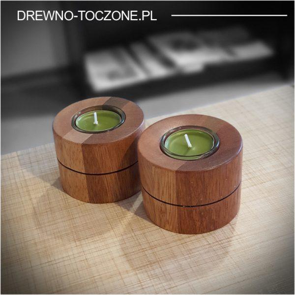 Eleganckie świeczniki drewniane w-4