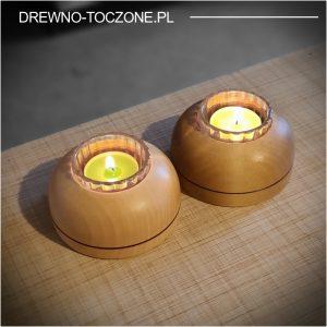 Niebanalne świeczniki drewniane