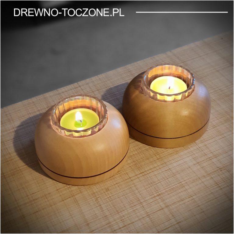 Niebanalne świeczniki drewniane w-3