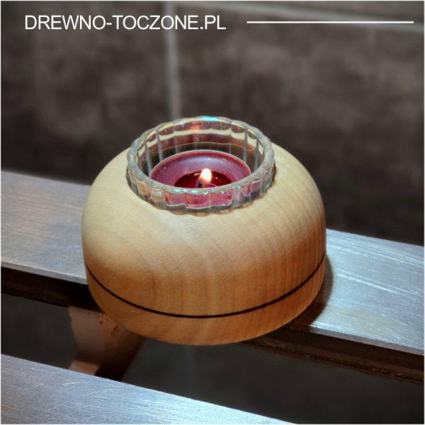 Niebanalne świeczniki drewniane w-3 1