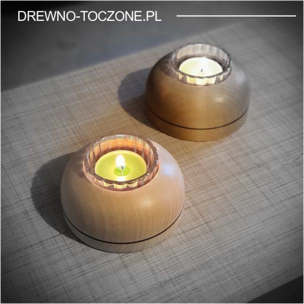 Niebanalne świeczniki drewniane w-3 2