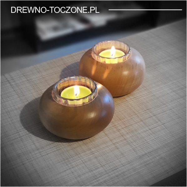 Świeczniki drewniane dysk w-5 3