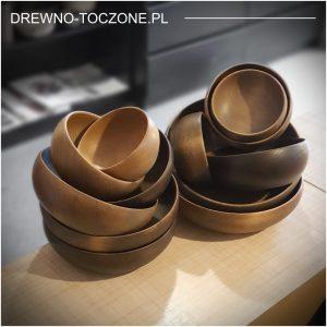 Barwione drewniane miski pik