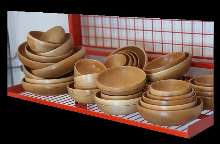 Ekspozycja miski drewniane smart